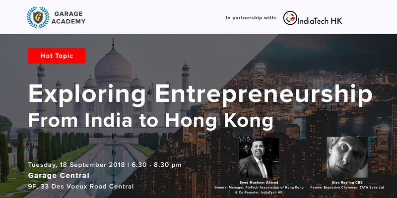 Exploring entrepreneurship   from india to hk