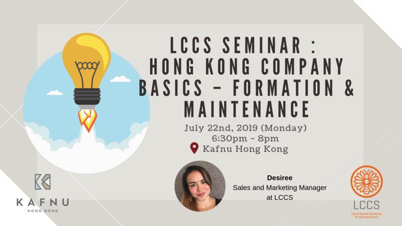 Lccs seminar   hong kong company basics   formation   maintenance  2