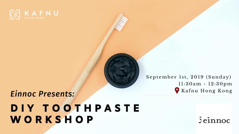 Einnoc presents  sustainable living diy toothpaste workshop  2