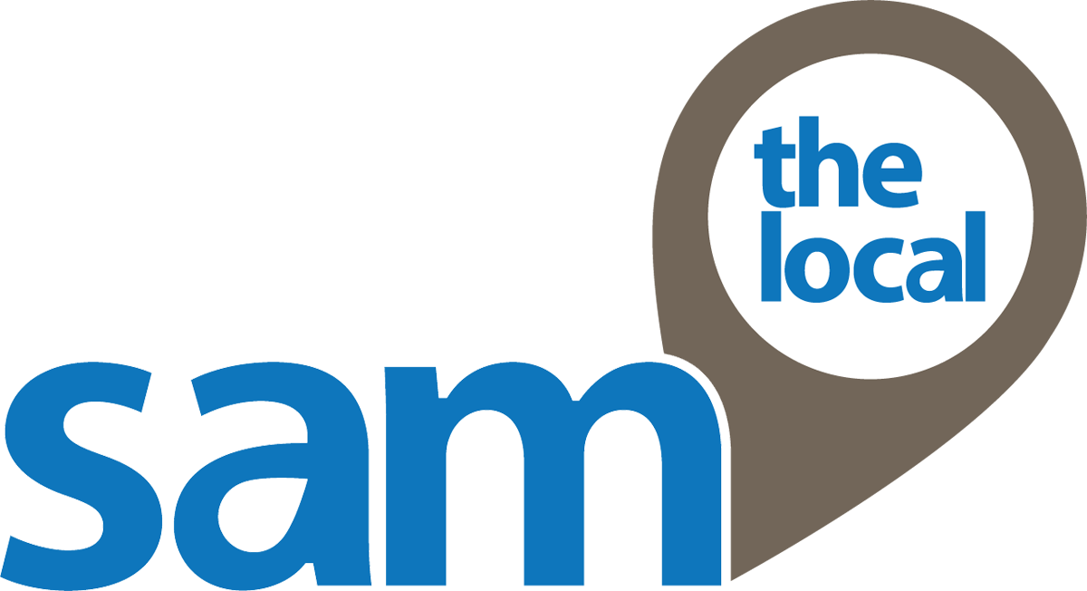 Sam the local logo