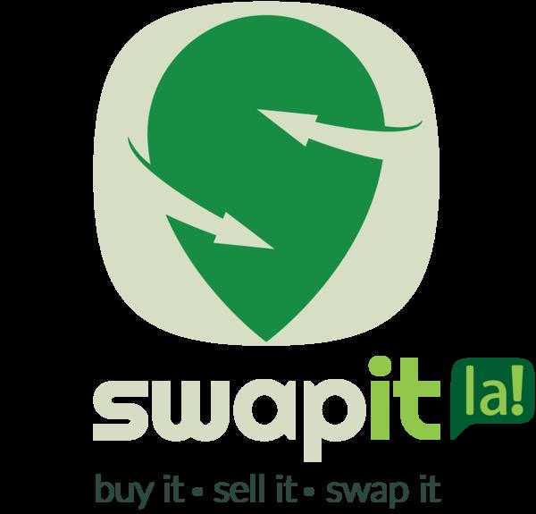 Swapit icon text la logo slogon vert light