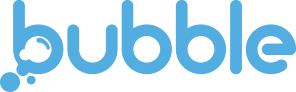 Bubble logo new blue