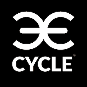 Large e cycle black white