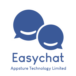 Large easychat logo v with company name png