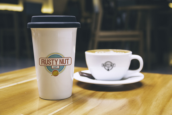 Rustynut logo v1.3 mock up cup