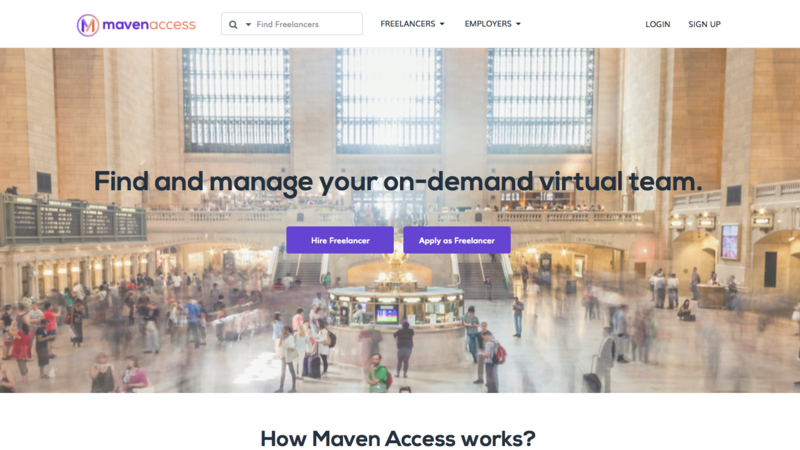 Maven access homepage