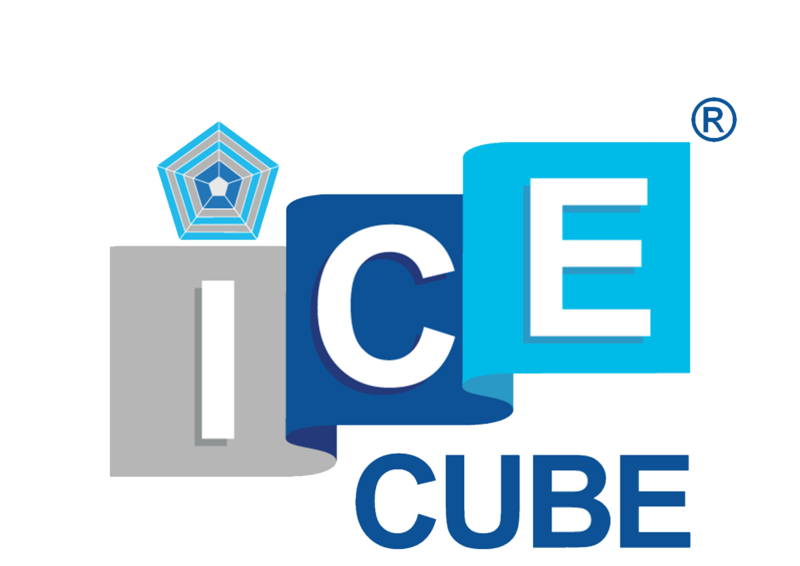 Ice cube pentagon with r symbol 22.05.17