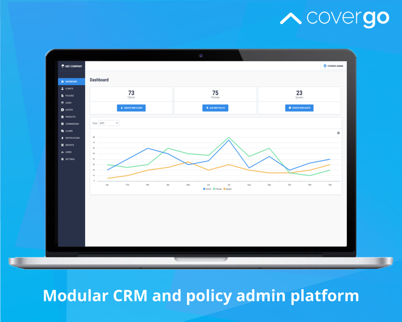 Modular crm and policy admin platform